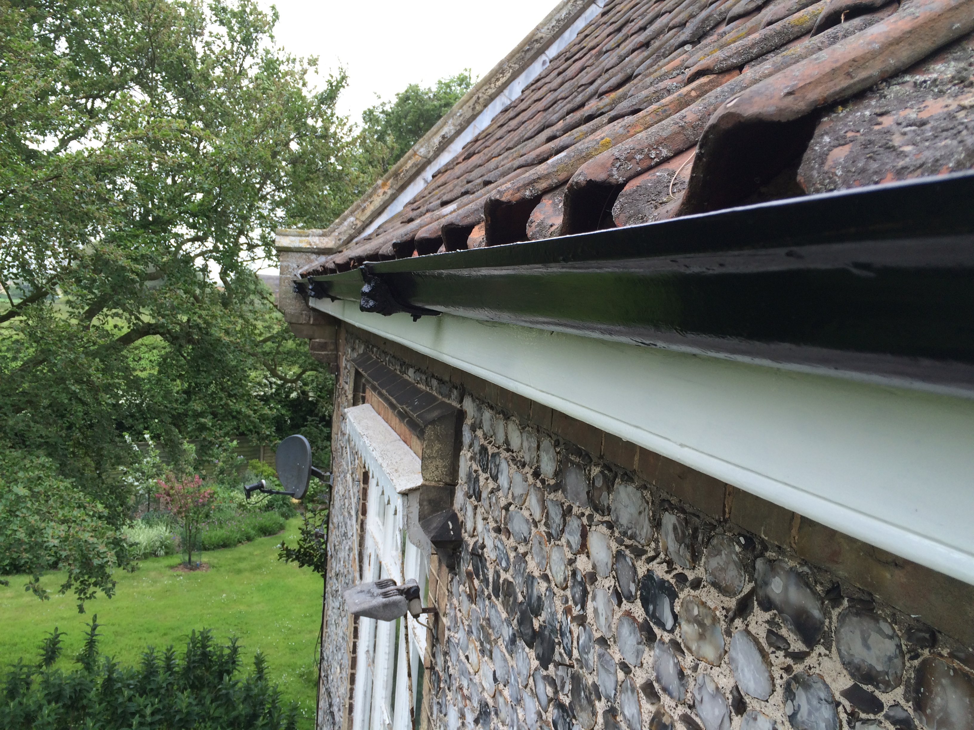 Cast Iron Gutters - Refinishing