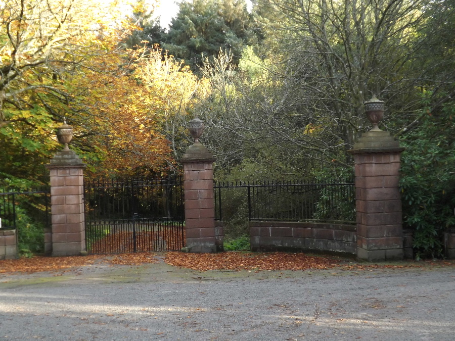 Gates to the House on the Arbigland Estate near Kirkbean