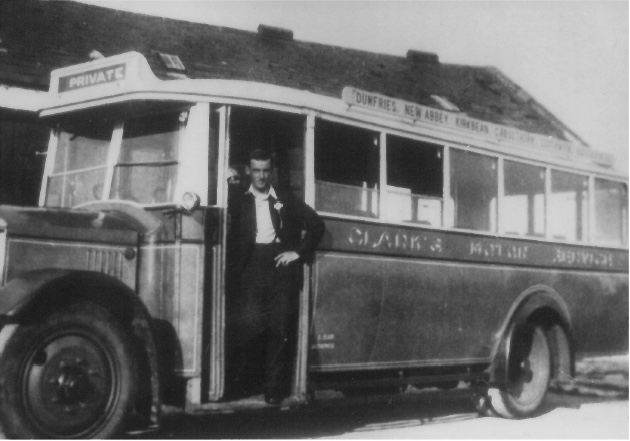 Bus from Dumfries that passed through Kirkbean