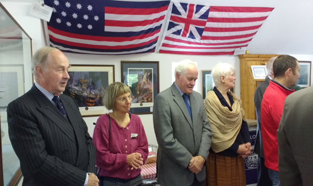Members of the John Paul Jones Museum Trust including John McMyn and Diane Lilley