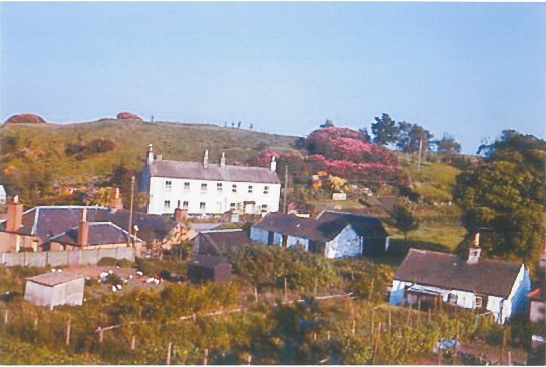 Kirkbean village and the church yard in the early 1960s