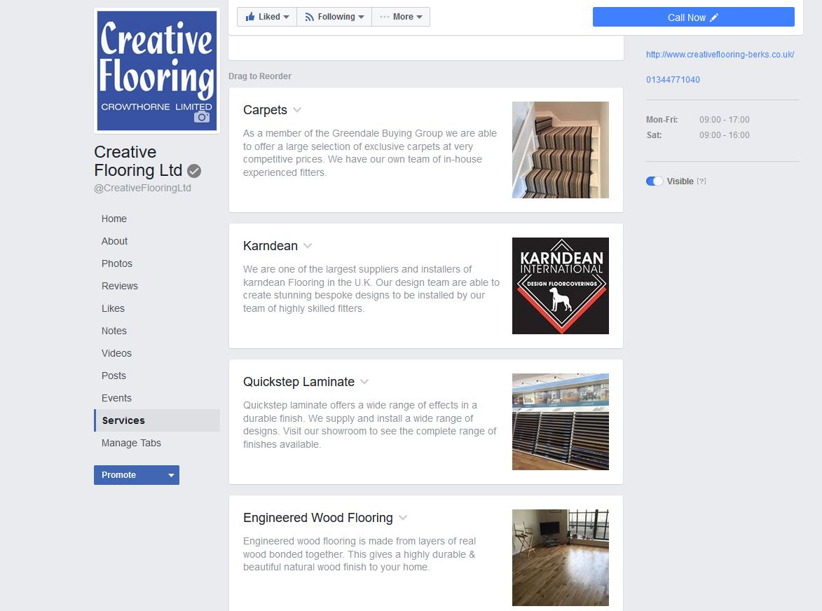 Facebook Service Pages