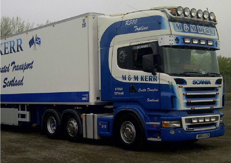 M & M Kerr Refrigerated Haulage Contractors truck