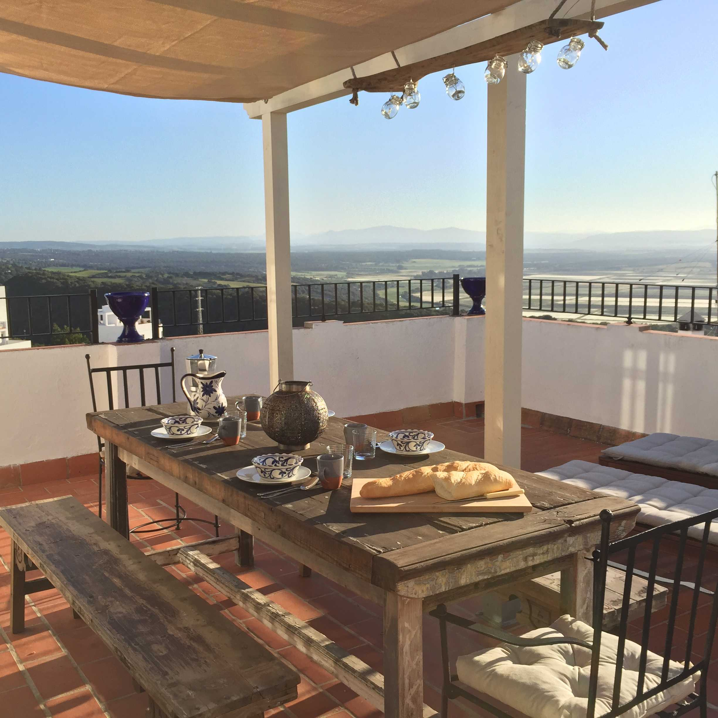 Enjoy a lovely breakfast or dinner out on the terrace