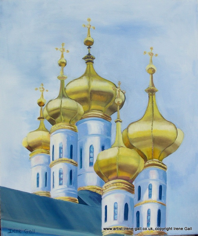 The Golden Domes of St Petersburg by contemporary Scottish artist Irene Gall of Thornhill, Dumfries and Galloway