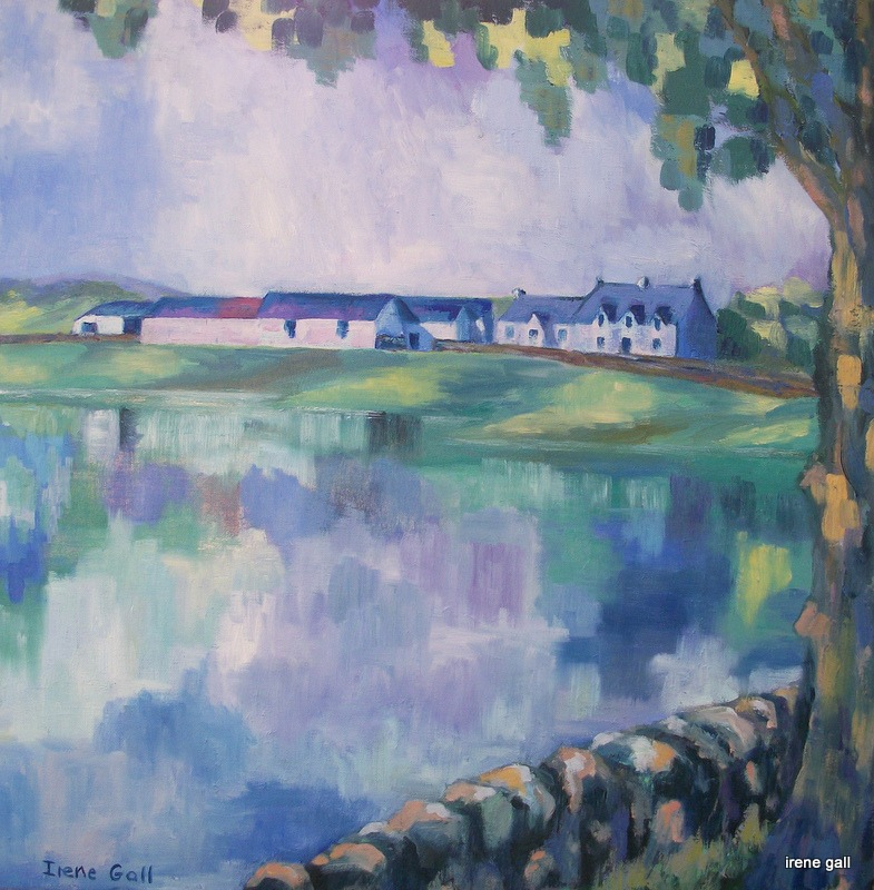 Lakehead Farm Closeburn by contemporary Scottish artist Irene Gall of Thornhill, Dumfries and Galloway