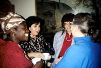 Bolanle Awe Maria Beatriz Nizza da Silvaat the Bellagio meeting in 1989