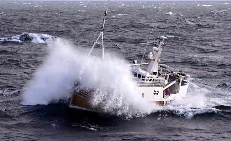 At sea - an Alexander Noble & Sons built fishing trawler
