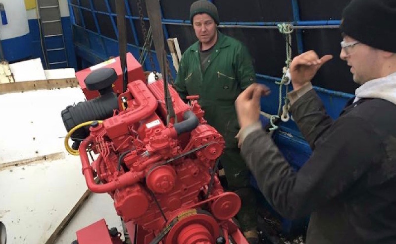 Marine engine installations at Alexander Noble & Sons Marine Engineers Girvan Ayrshire