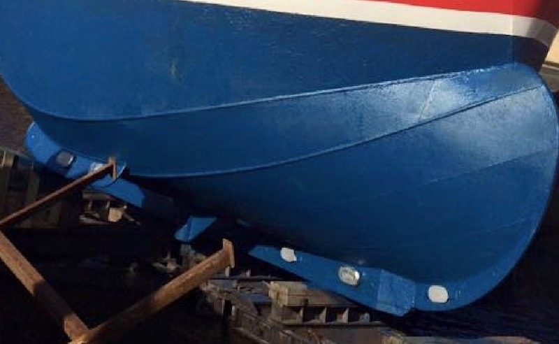 Hull repairs at Alexander Noble & Sons Marine Engineers Girvan Ayrshire