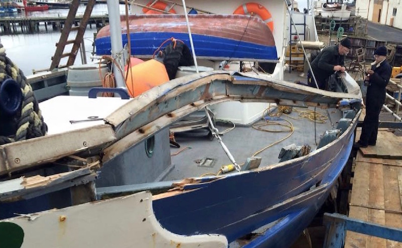 Boat repairs by Alexander Noble & Sons Marine Engineers Girvan Ayrshire