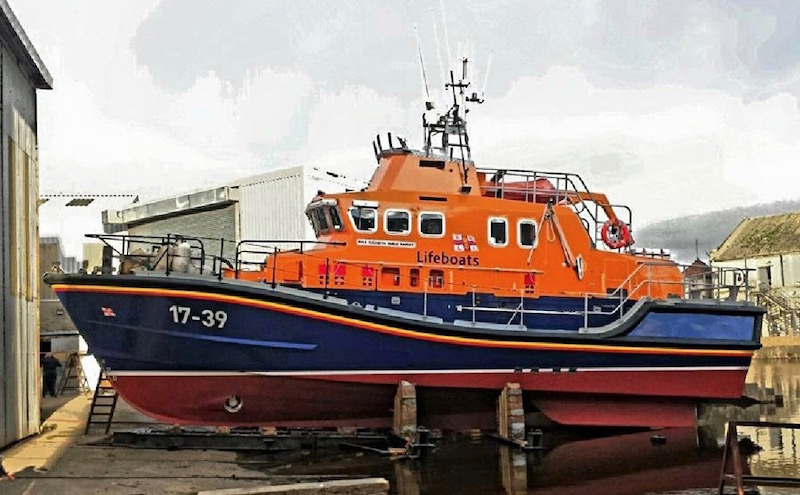 Alexander Noble & Sons Marine Engineers Girvan Ayrshire are one of only 3 boatyards entrusted to carry out maintenance and refits on RNLI lifeboats