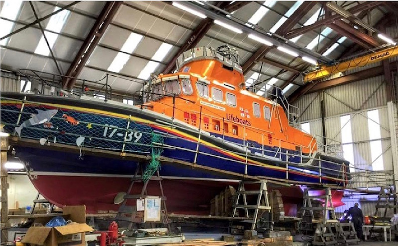 RNLI refits at Alexander Noble & Sons Marine Engineers Girvan Ayrshire