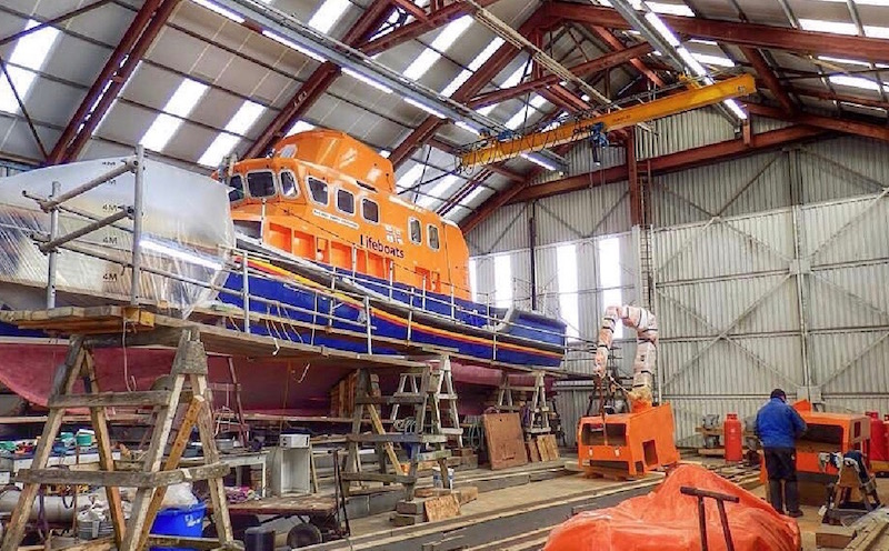 One of the sheds at Alexander Noble & Sons boatyard in Girvan Ayrshire