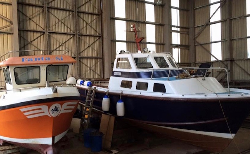 Leisure craft repairs and maintenance at Alexander Noble & Sons Marine Engineers Girvan Ayrshire