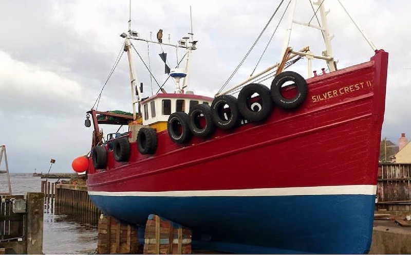 Trawler repaint by Alexander Noble & Sons Marine Engineers Girvan Ayrshire