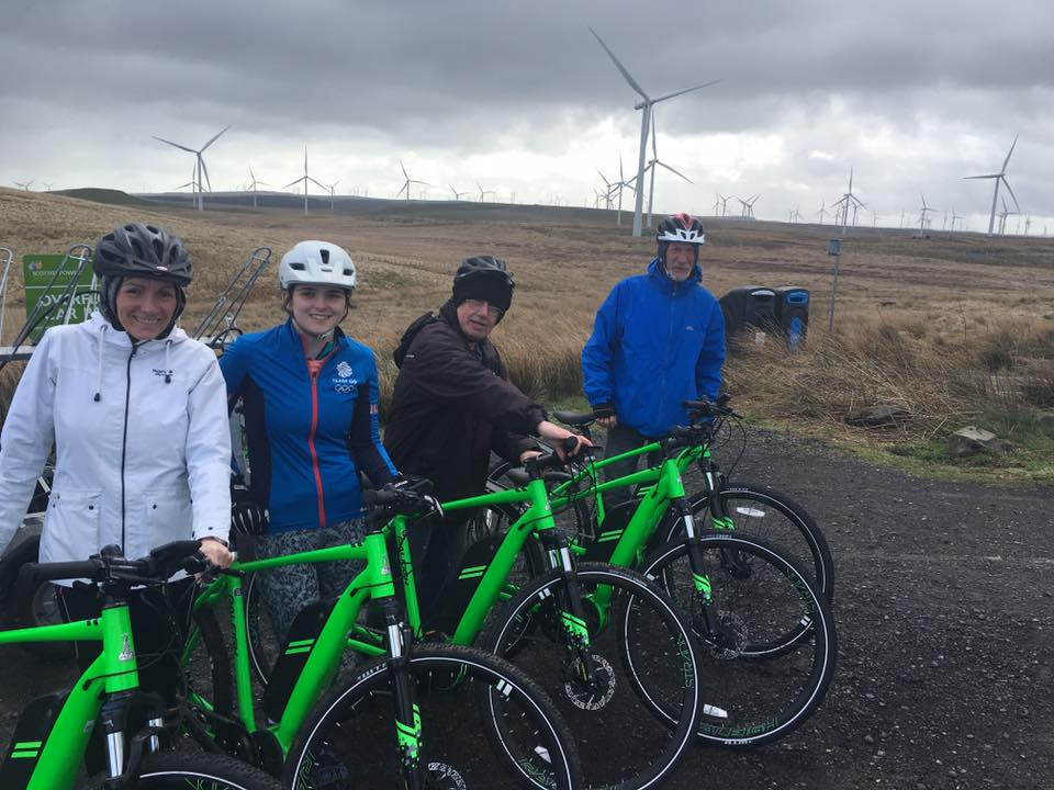 Members of Cycle Station at Whitelee Windfarm