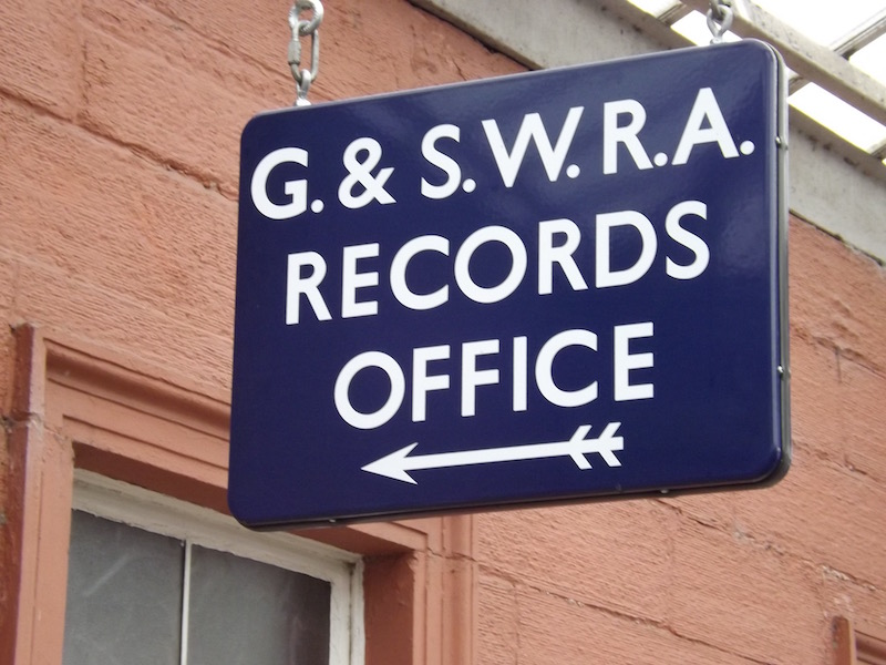 The Glasgow & South Western Railway Association Records Office at Kilmarnock Station