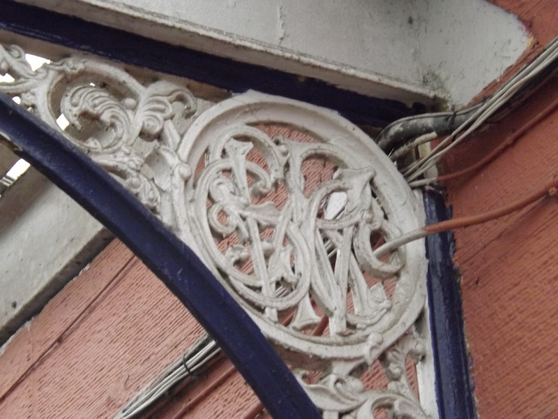 An ornate iron roof support still adorns the platform at Kilmarnock Railway Station