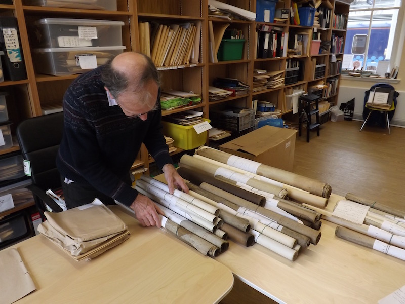 GSWRA member Stuart Rankin sorts through the archives