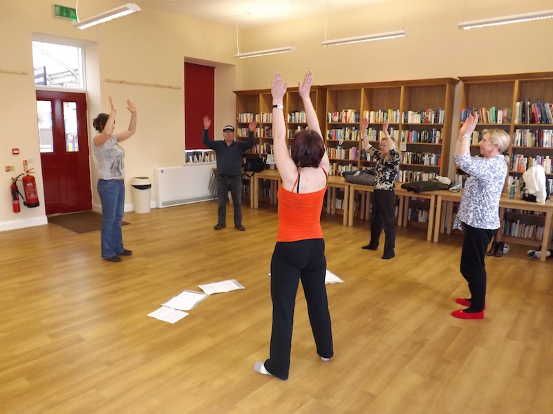 Exercise classes at Kilmarnock Station