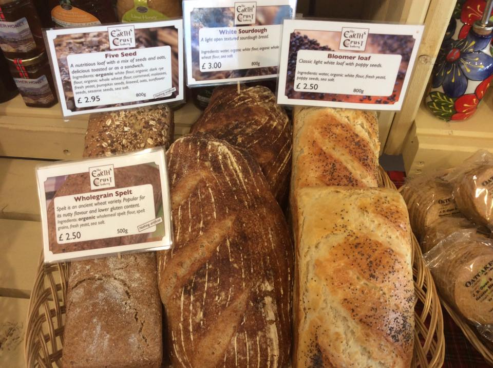 A range of artisan breads