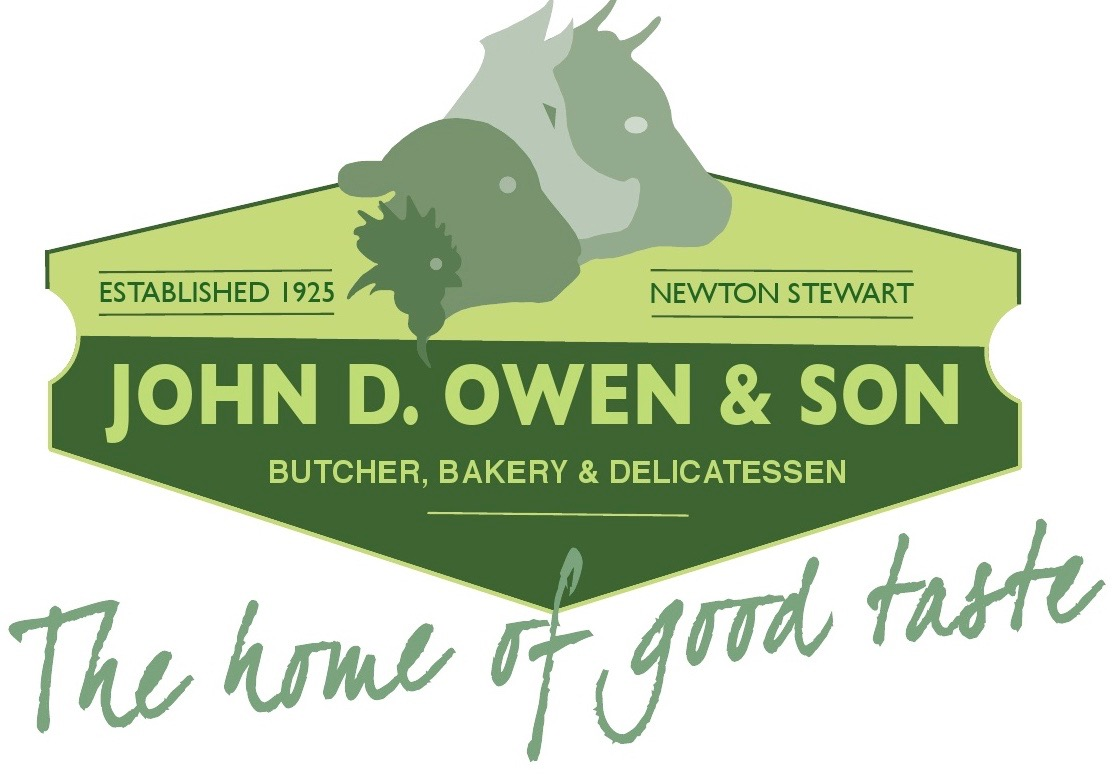 Logo of John D Owen & Son Butchers and Delicatessen, Newton Stewart