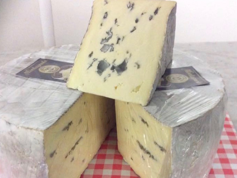 German blue cheese Montagnolo from John D Owen & Son