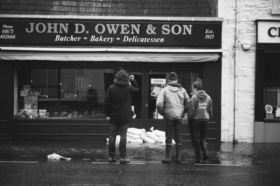 John D Owen & Son during the 2015-16 Floods in Newton Stewart