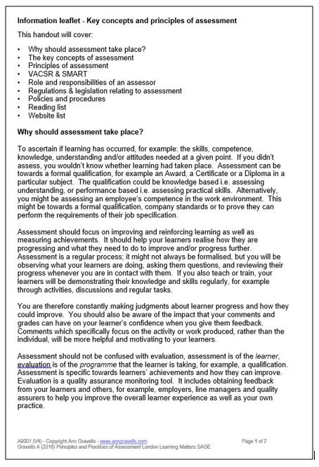 Unit 301 understanding roles leaflet