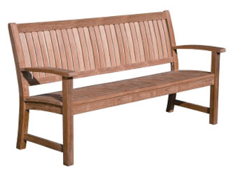 The Westminster Wave Bench in high quality teak
