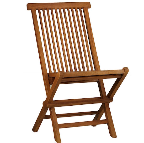 Folding outdoors or indoors chair in high quality teak