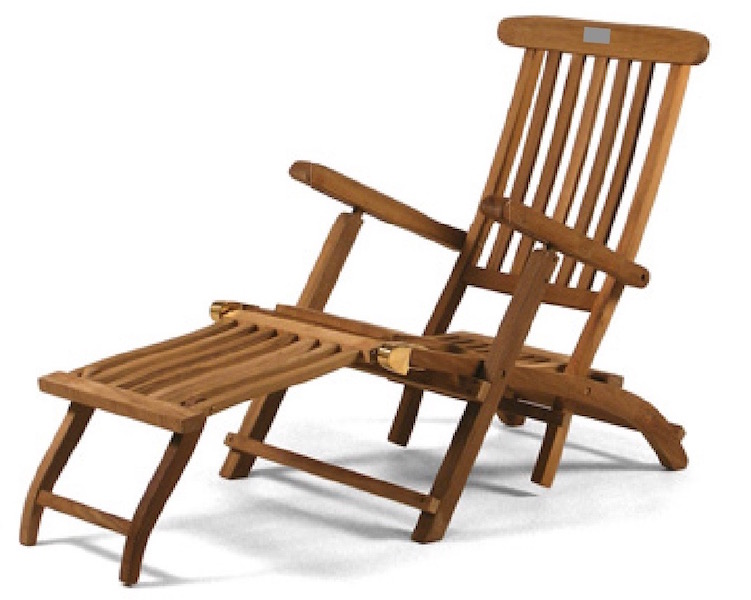 The Classic Steamer lounger chair for your patio or garden