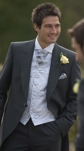 slate grey wedding suit