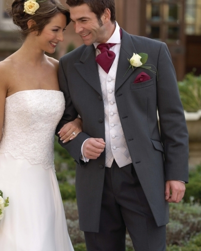 wedding slate grey jacket