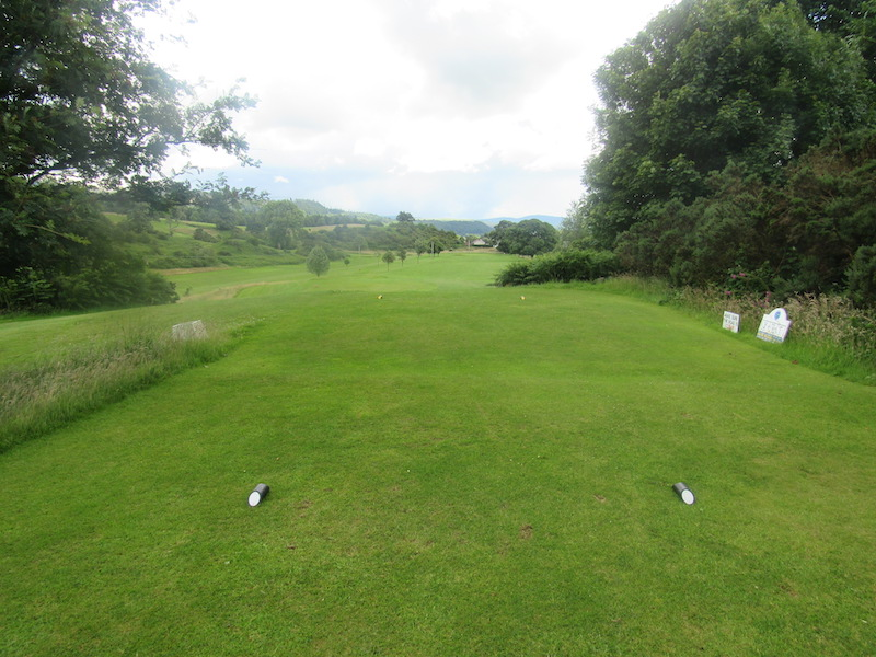 2nd tee at Newton Stewart Golf Club