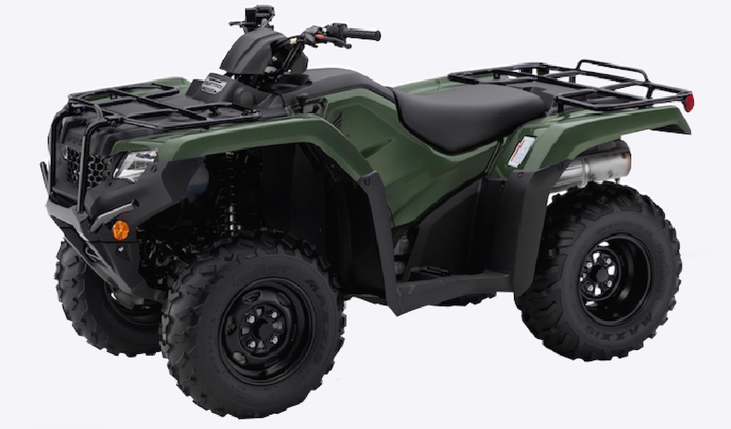 Honda Fourtrax 420 PS 2/4wd in green available from Paterson ATV Dalbeattie, Dumfries and Galloway's leading ATV Centre