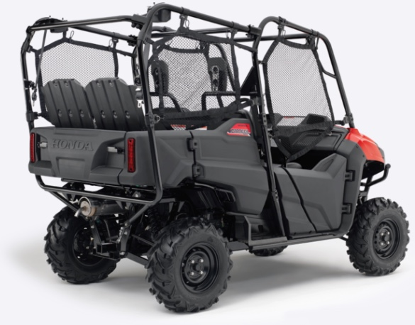 The Honda Pioneer 700-4 from Paterson ATV Dalbeattie, ideal as a family all terrain vehicle and for kids