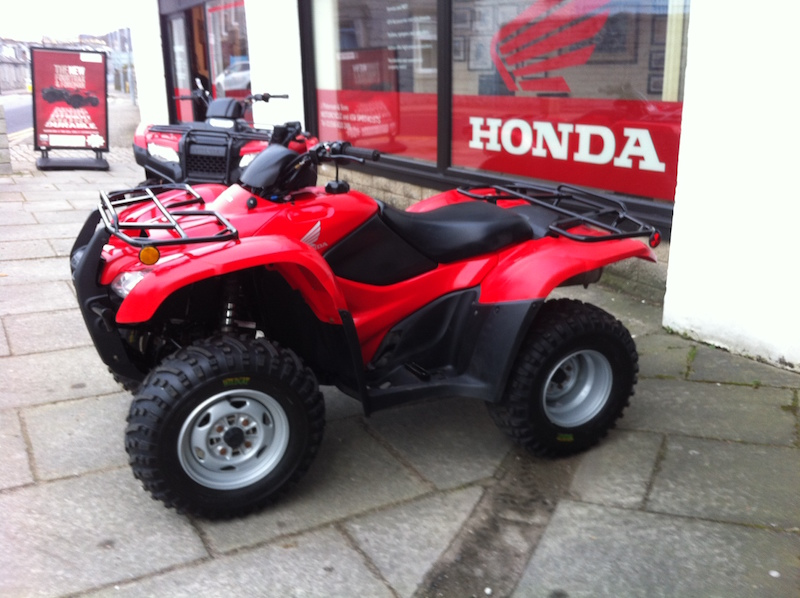 Pre-owned ATVs TRX 420s from Paterson ATV Dalbeattie, Dumfries and Galloway