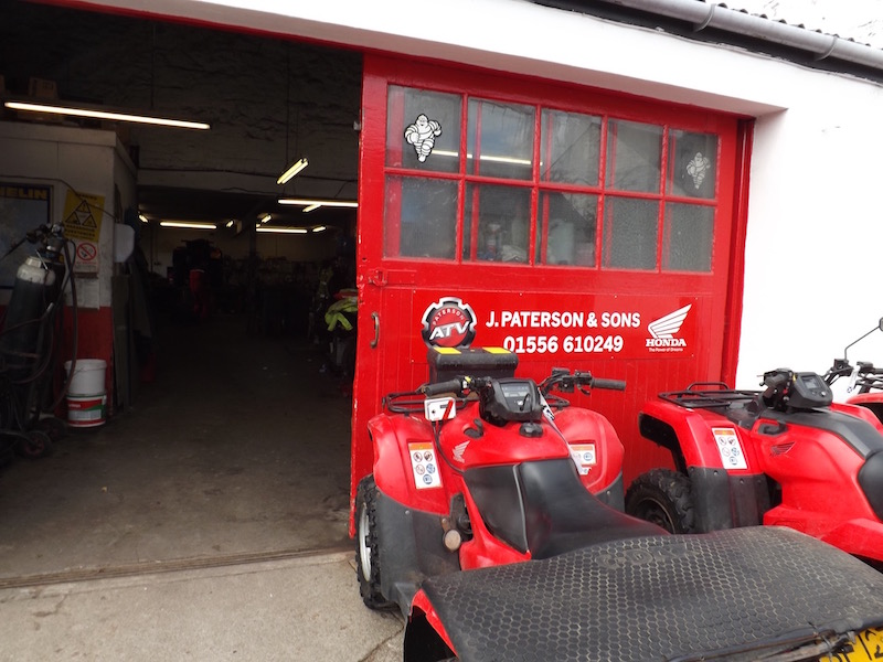 The workshop at Paterson ATV Centre, Dalbeattie, Dumfries and Galloway