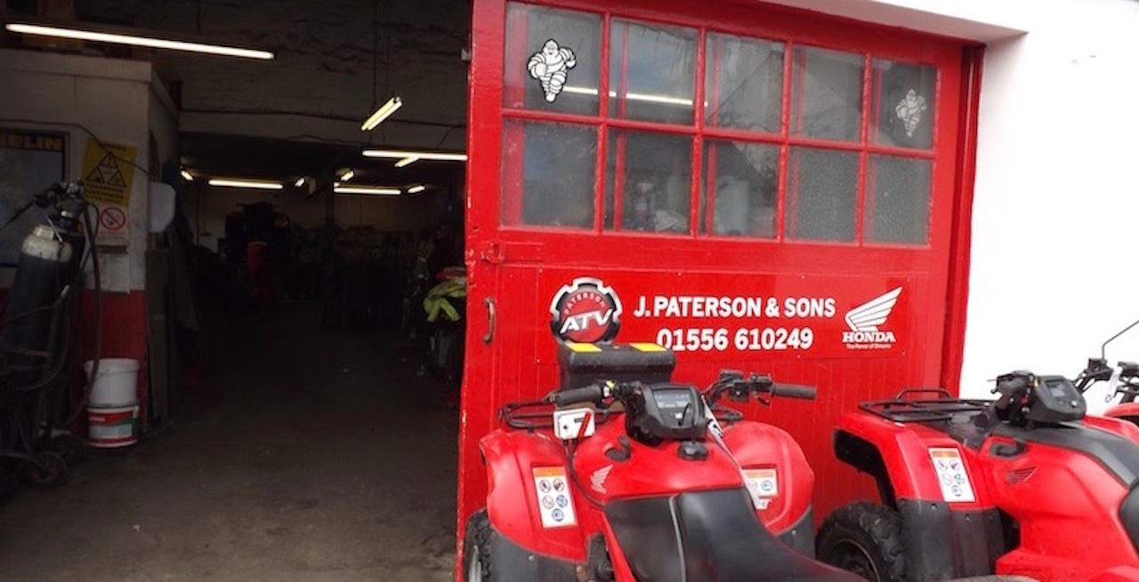 ATV repairs and servicing by Paterson ATV Centre, Dalbeattie, Dumfries and Galloway - their workshop