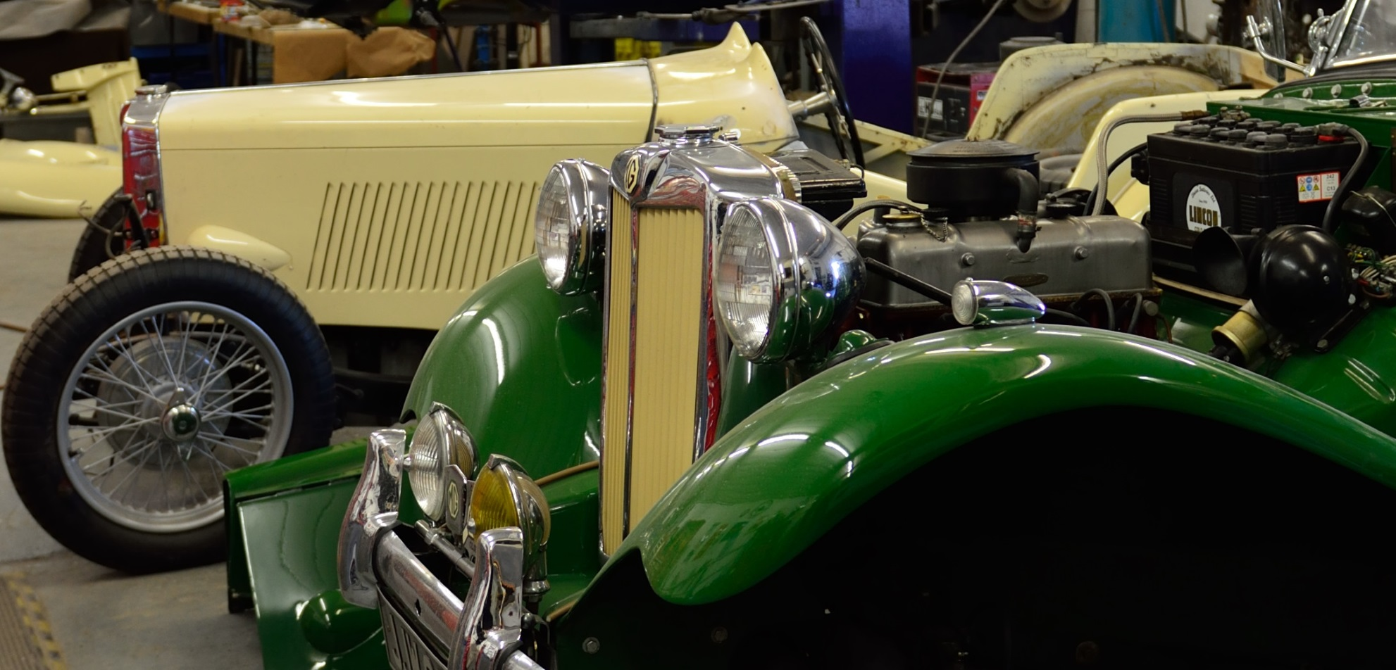 MG TD in for Servicing, MG TC in for restortation