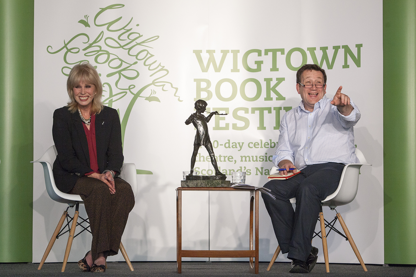 Joanna Lumley and Andrew Castle at Wigtown Book Festival