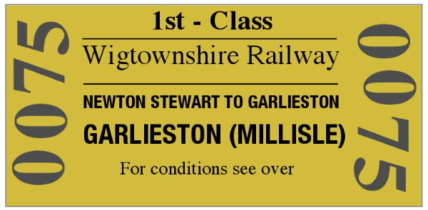Mock Wigtownshire Railway ticket