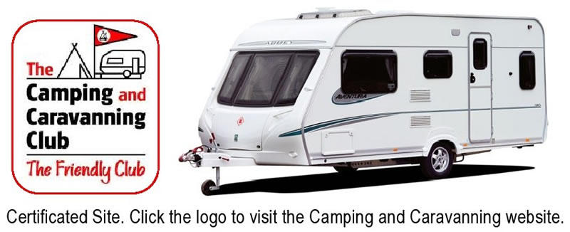 Logo of the Camping and Caravanning Club to be used as a click through to their website