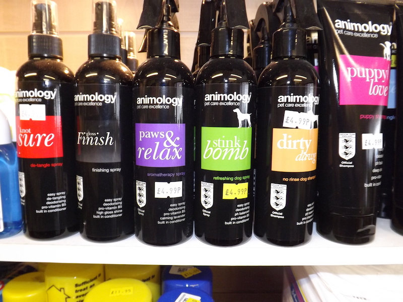 "The ""animology"" range of pet shampoos"