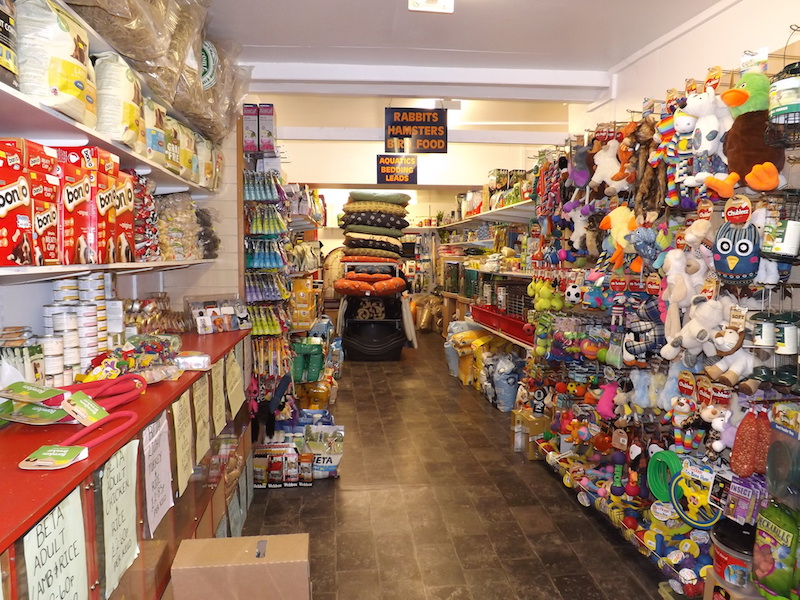 Internal view of the shop