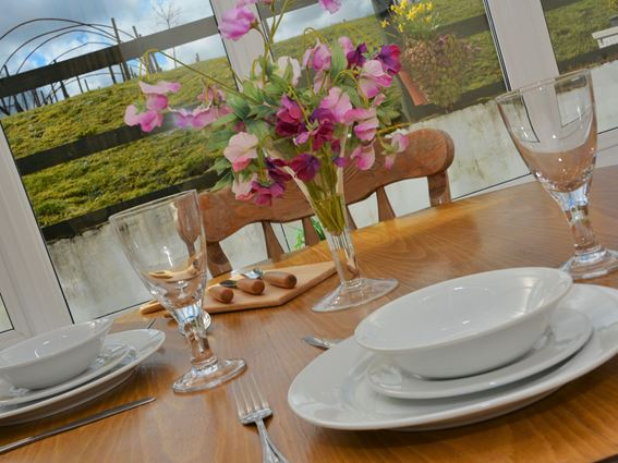 Lovely views from Carty Holiday Cottage's conservatory dining room