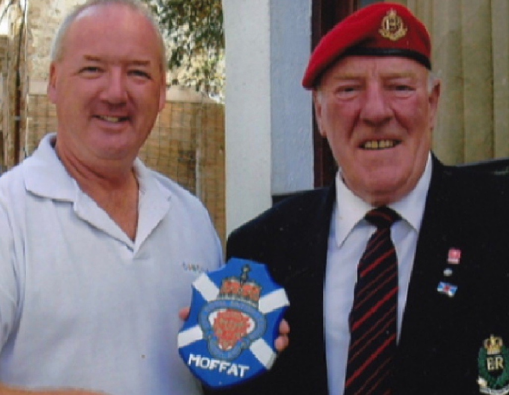 Members of the Royal British Legion Moffat with their plaque