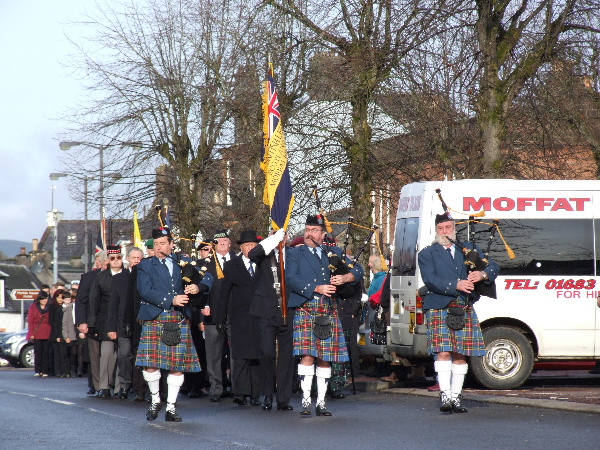 Remembrance Day Parade Moffat, 2012